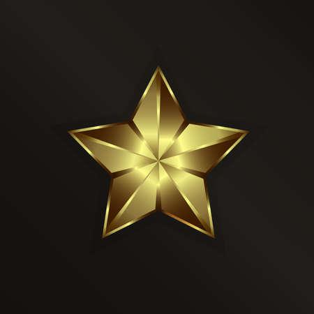 three dimensional shape: Golden Star