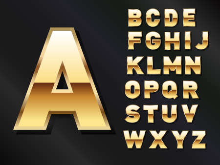 Golden Set of Letters for advertisement
