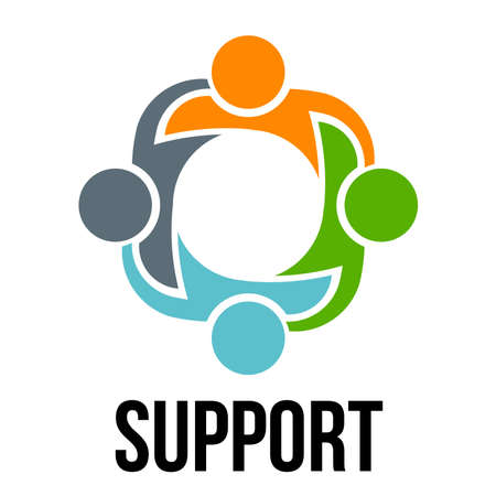 Support.Group of four people