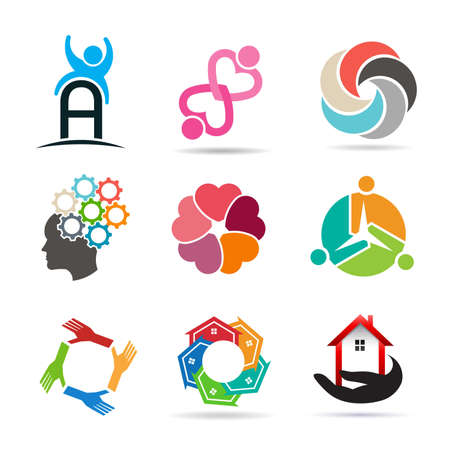 global communication: Set 1 of various types of icons for design