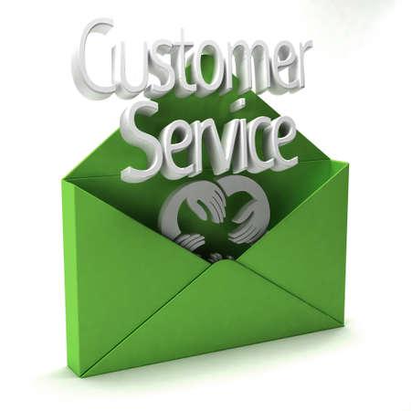 ad: 3D Customer Service green Ad