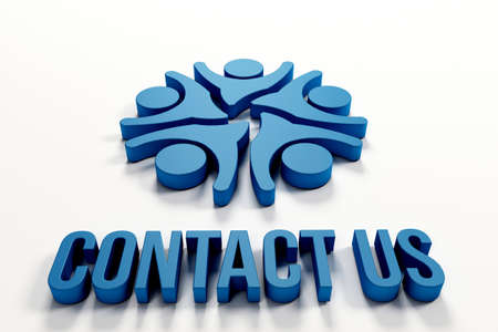 contact us: Contact us people in 3D
