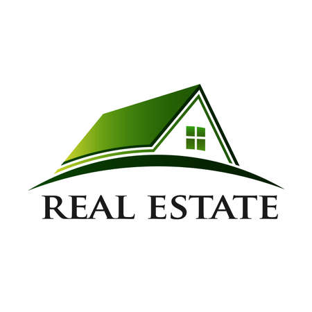 real estate house: Green House Real Estate Stock Photo
