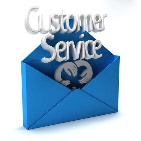 ad: 3D Customer Service Ad Stock Photo