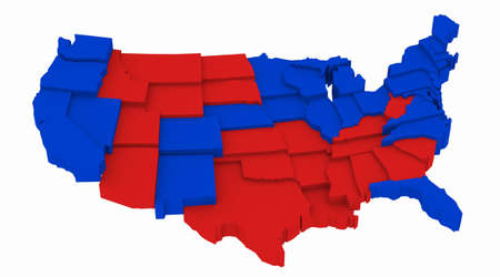 incumbent: 3D USA map Presidential Elections 2008