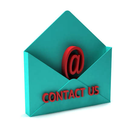 3D Contact us email. Stock fotó