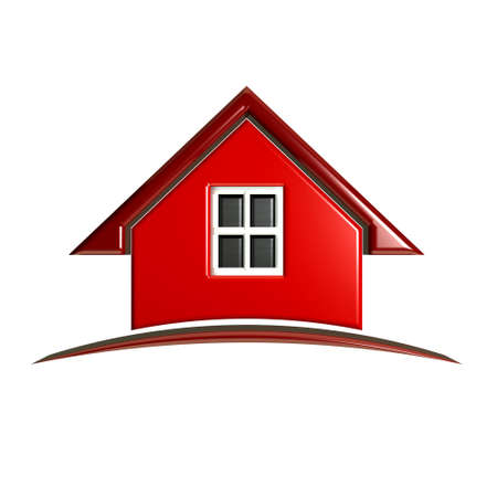3D Luxury Red House with arch