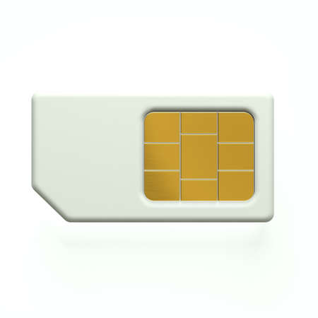 sim: 3D Sim card cellphone