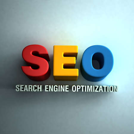 3D SEO word sign in wall