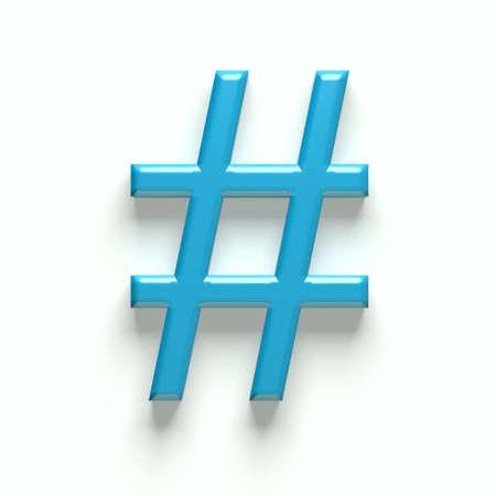 hash: 3D hash tag