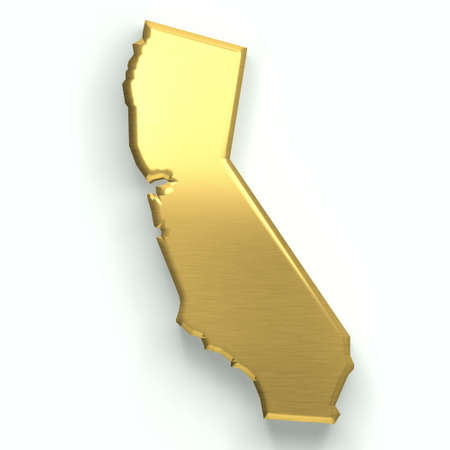 California golden map. 3D design