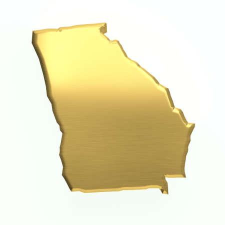Georgia golden map. 3D design Zdjęcie Seryjne