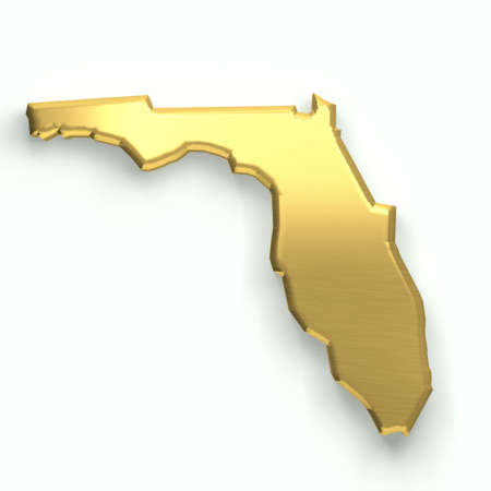 Florida golden map. 3D design
