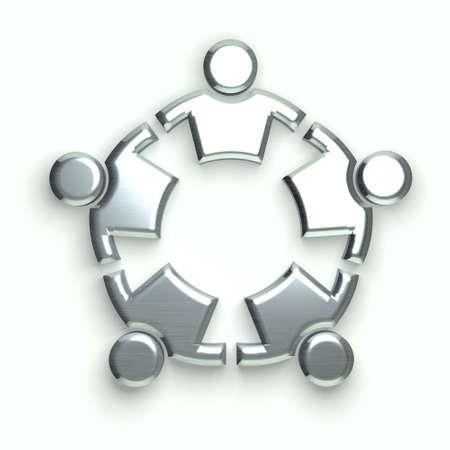 silver circle: People Logo. silver circle