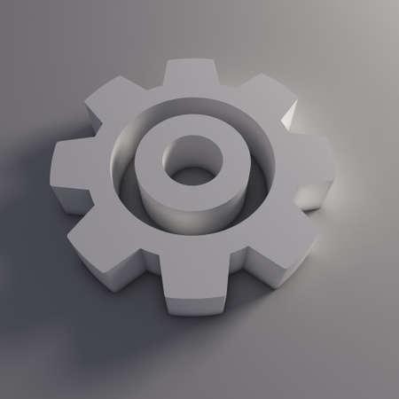 Gear 3D aislado Foto de archivo - 41763223