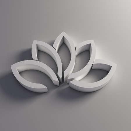 3D Lotus plant. Фото со стока