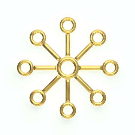 nodes: 3D Network Star topology - 8 nodes