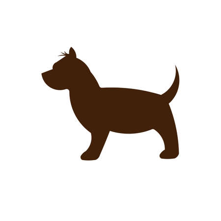 Terrier dog silhouette Stock Illustratie