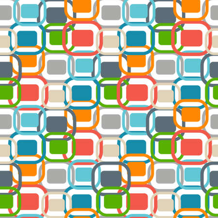 70s: 70s retro graphics seamless pattern Illustration