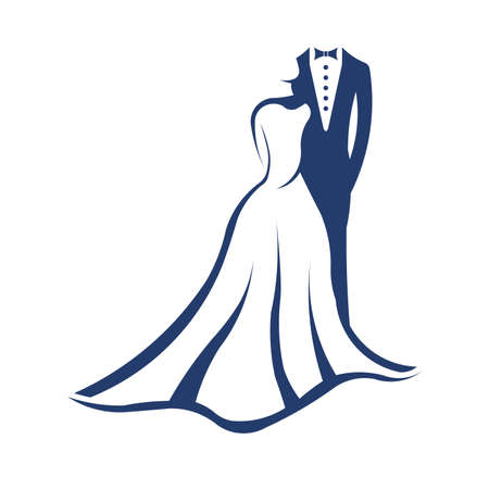 Wedding couple Illustration