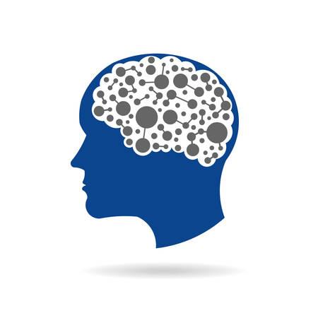 mente humana: Redes del cerebro. Vectores