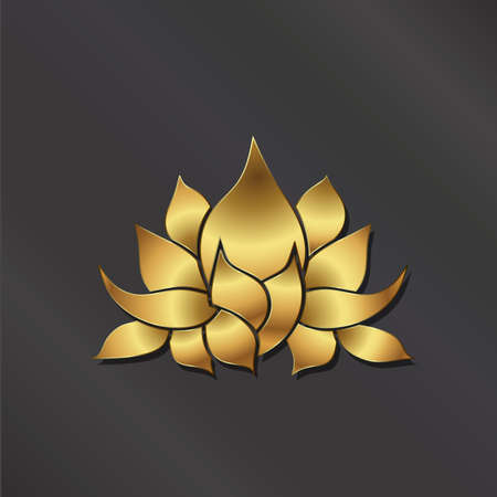beauty and health: Luxury Gold Lotus plant image.