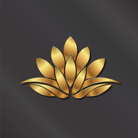 Immagine Luxury impianto Loto d'Oro. Vettoriali
