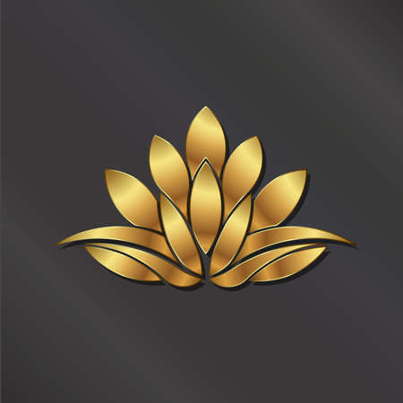 luxury: Luxury Gold Lotus plant image.