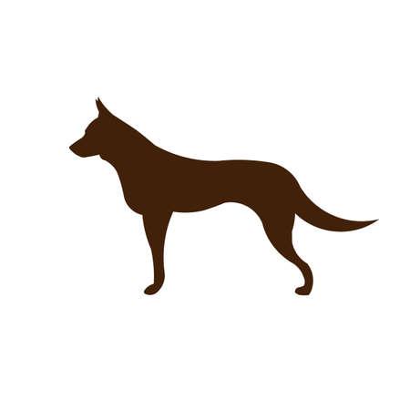 German Shepard dog silhouette