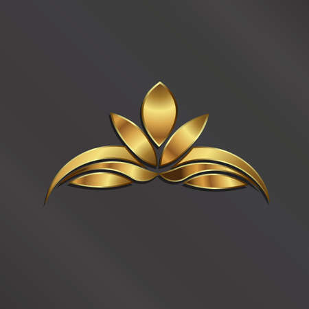 Luxe image Gold Lotus plant.