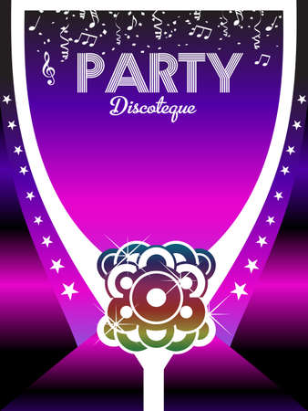 locandina arte: 80s Party Poster Art Background.