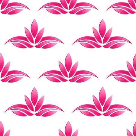 graphic pattern: Lotus pattern background.Seamless