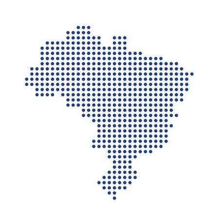 Brazilië dot kaart. Concept voor netwerken, technologie en aansluitingen