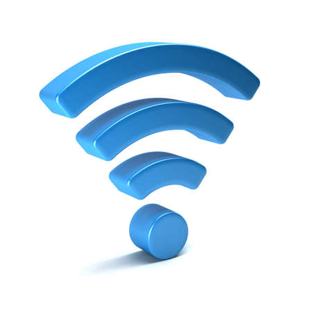 wireless icon: Wireless wifi 3D render isolated
