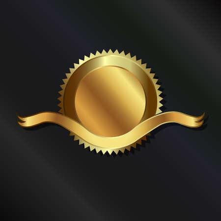 signatory: Gold seal with ribbon