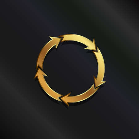 ciclo de vida: Oro círculo de la vida