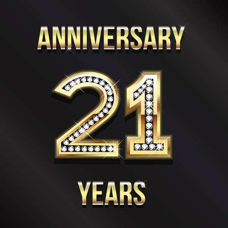 anniversario matrimonio: 21 ° anniversario Vettoriali