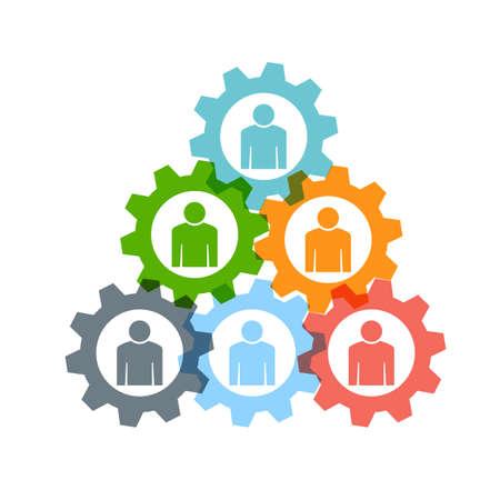 koncept: Teamwork redskapspyramid Illustration