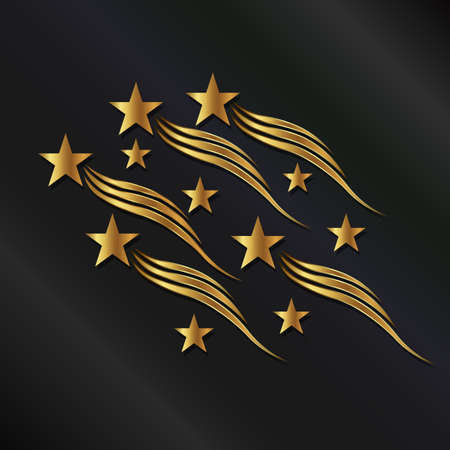 gold stars: Gold stars waves