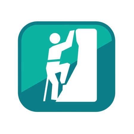 alpinist: Alpinist man  Illustration