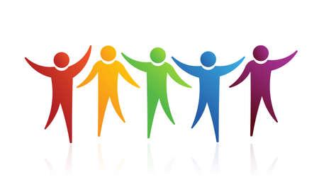 personas felices: Gente juntos