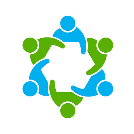 People logo. Group of six 스톡 콘텐츠