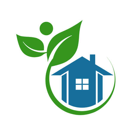 green building: Plant people House Logo.