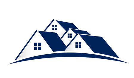 House Logo. Group of houses Banque d'images