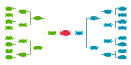 Bracket tournament 16 Vettoriali