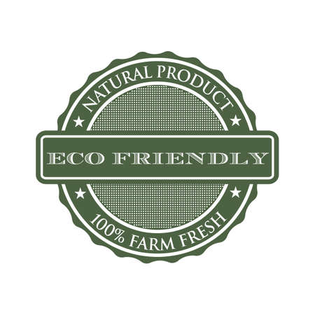 ecological: Eco-friendly product seal logo