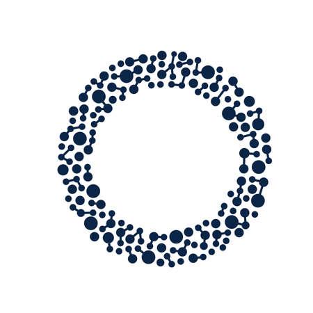 Points et de lignes de Network Circle Banque d'images - 43154335