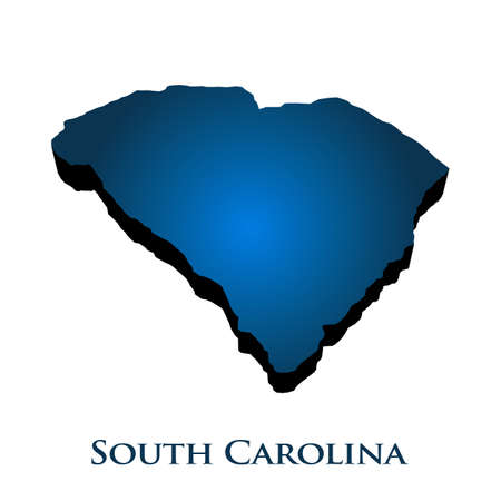 3D Graphic Map Of South Carolina State