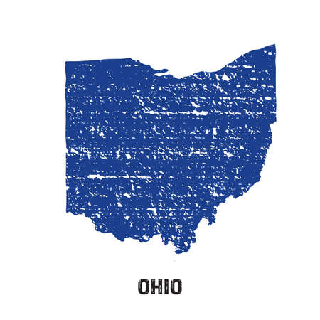 ohio: Ohio grunge seal map logo Stock Photo