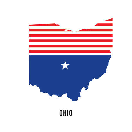 ohio: Ohio flag map logo